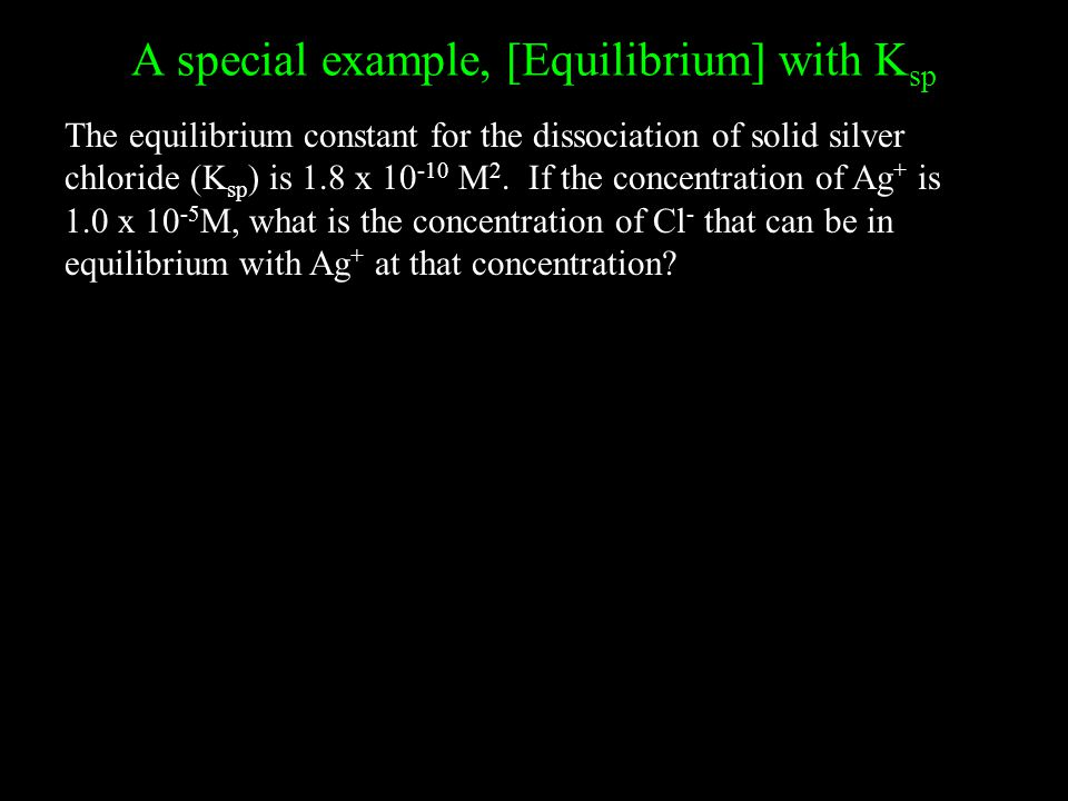 A special example, [Equilibrium] with Ksp
